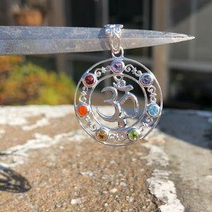 Jewelry - Chakra Spectrum Om Sterling Silver Pendant